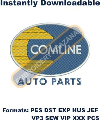 comline auto parts logo embroidery designs